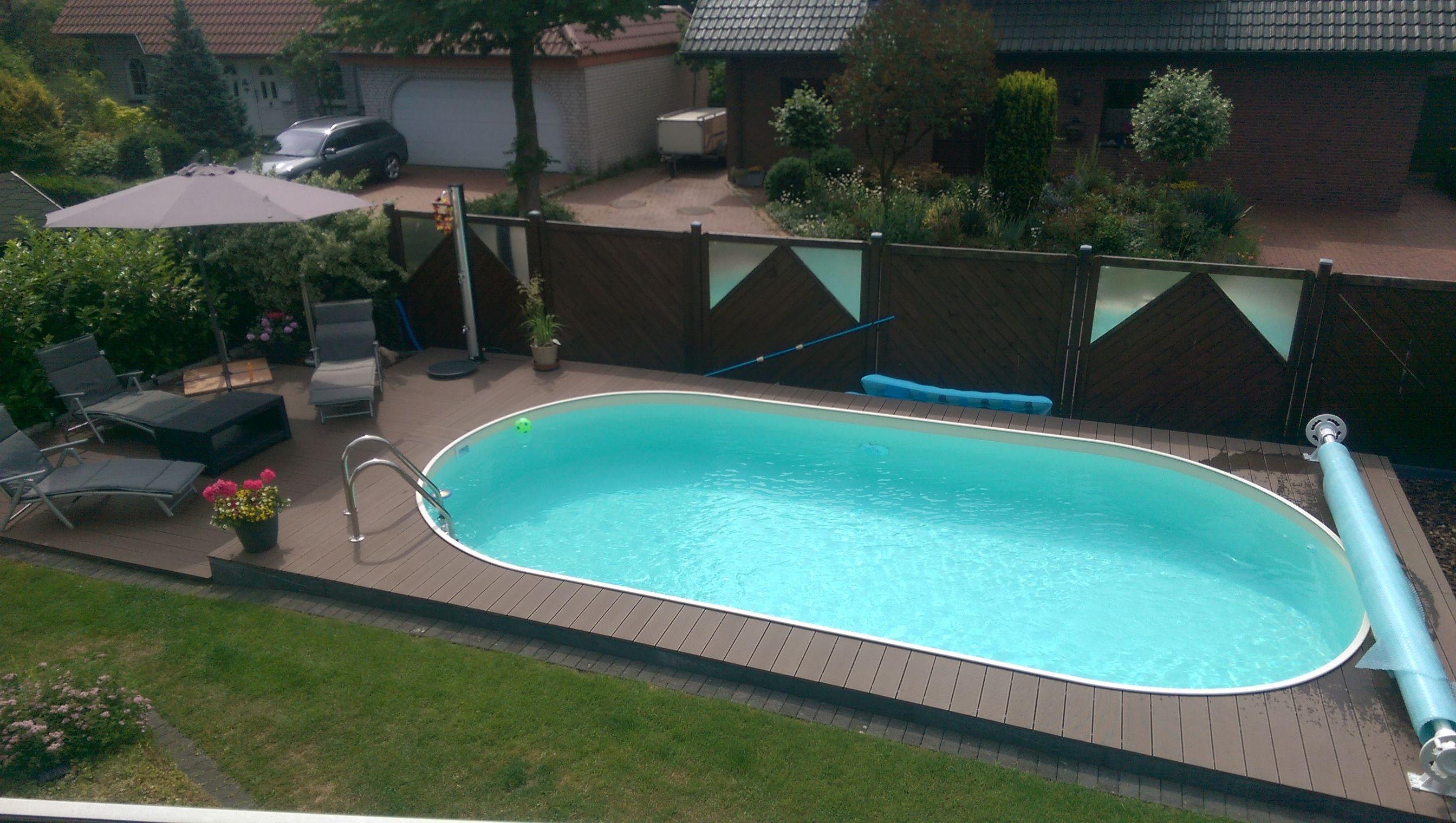Der eigene Pool im Garten sorgt auch zu Hause für das richtige Urlaubsflair pool oval Gartenpools von POOLSANA Pinterest