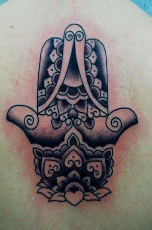#hamsa #lotus #tattoo