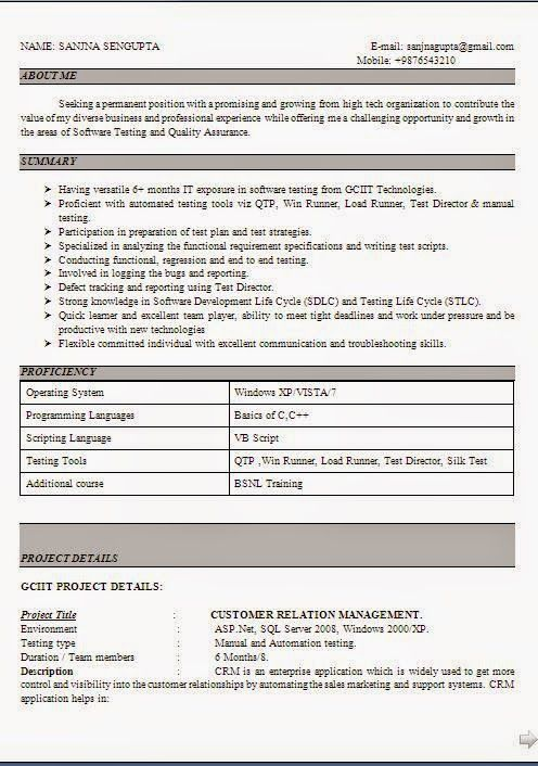 Download Cv Format Free Sample Template Example Ofexcellent