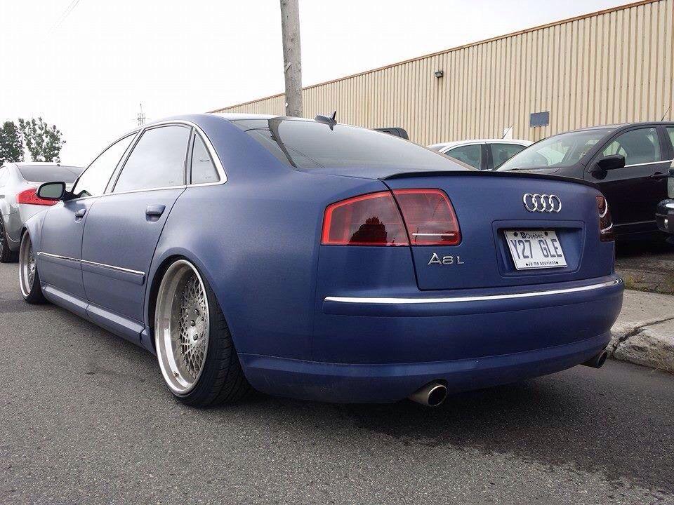 Audi A8 Custom Slammed Matte Blue Audi Slammed Audi Cars