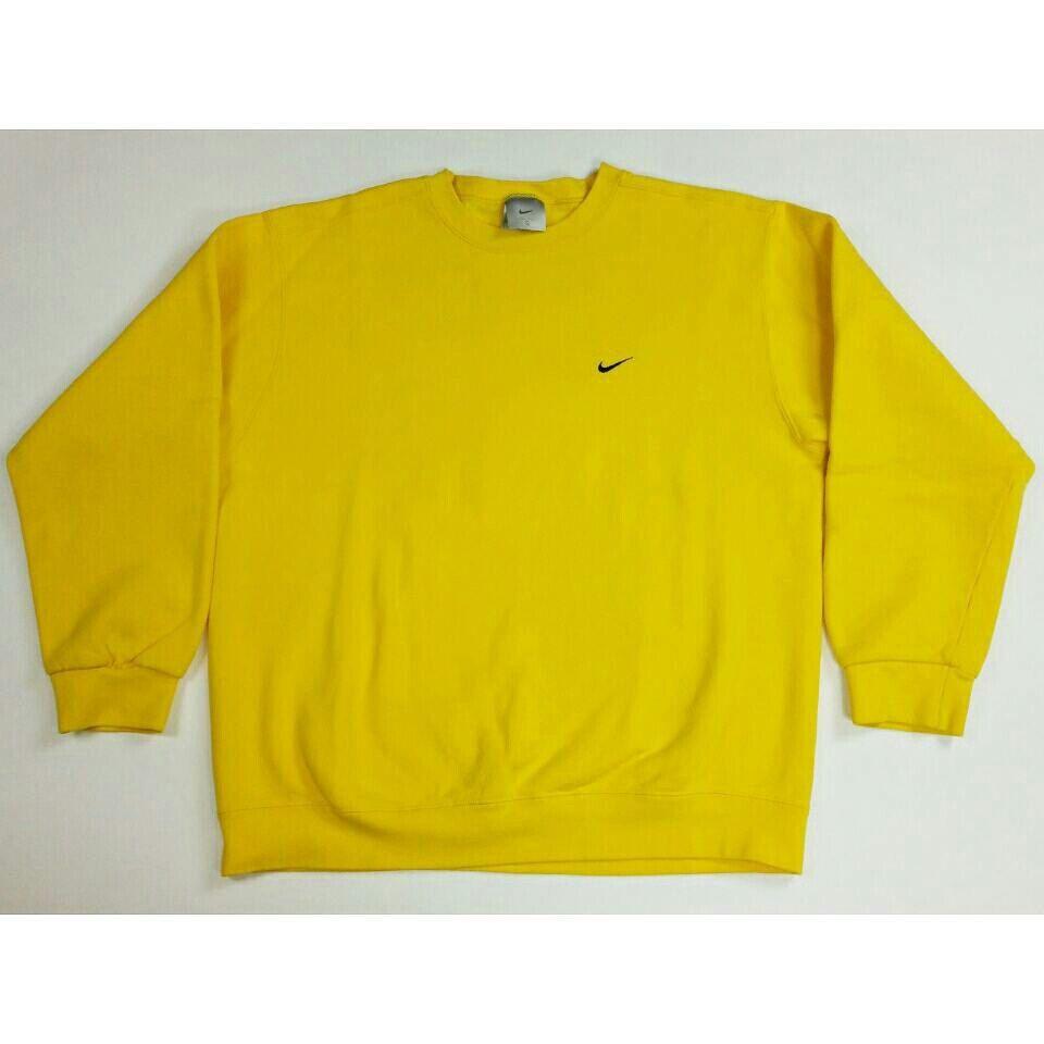 Vintage 90s Nike Original Classic Basic Yellow Crewneck Etsy Sweatshirt Outfit Trendy Sweatshirt Yellow Crewneck [ 960 x 960 Pixel ]