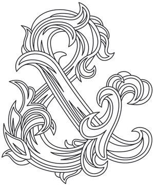 Fancy Ampersand design (UTH8023) from UrbanThreads.com