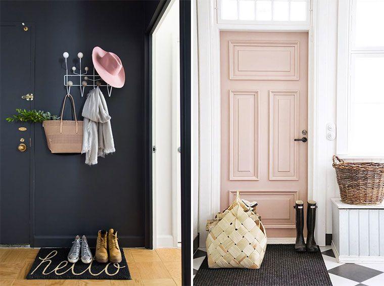 entr e f minine et glamour avec un porte manteaux. Black Bedroom Furniture Sets. Home Design Ideas