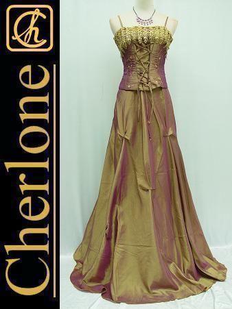 Cherlone Plus Size Satin Gold Corset Lace Ball Gown Weddingevening