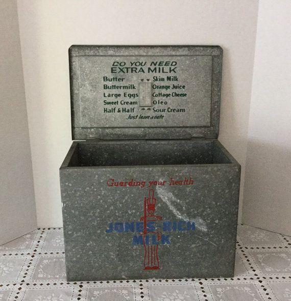 Vintage Metal Milk Delivery Box Dairy Box Milk Delivery Milk Man Milk