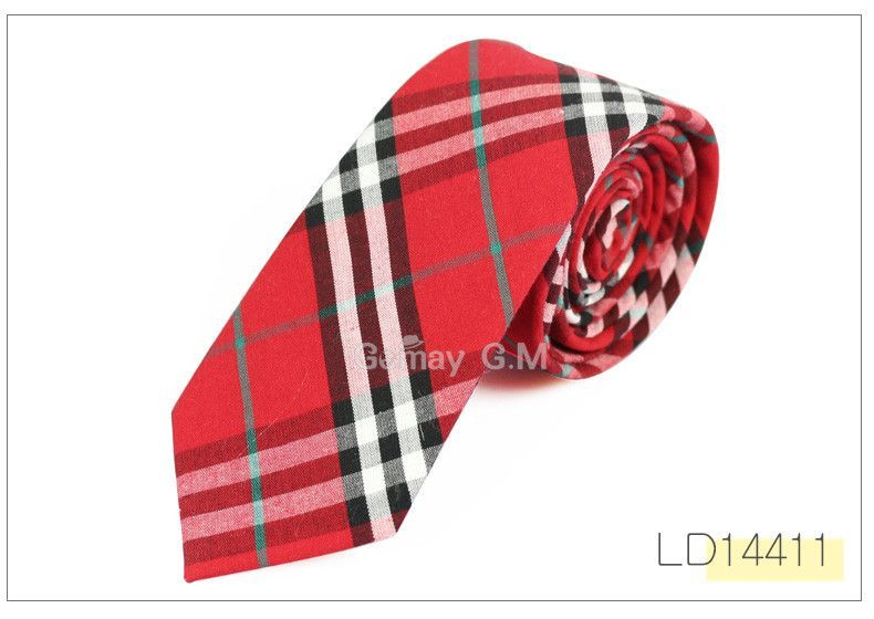 New Fashion 100% Cotton Ties For Men Casual Plaid Mens Necktie Gravatas Corbatas Slim Suits Vestidos Neckties Party Neck Tie