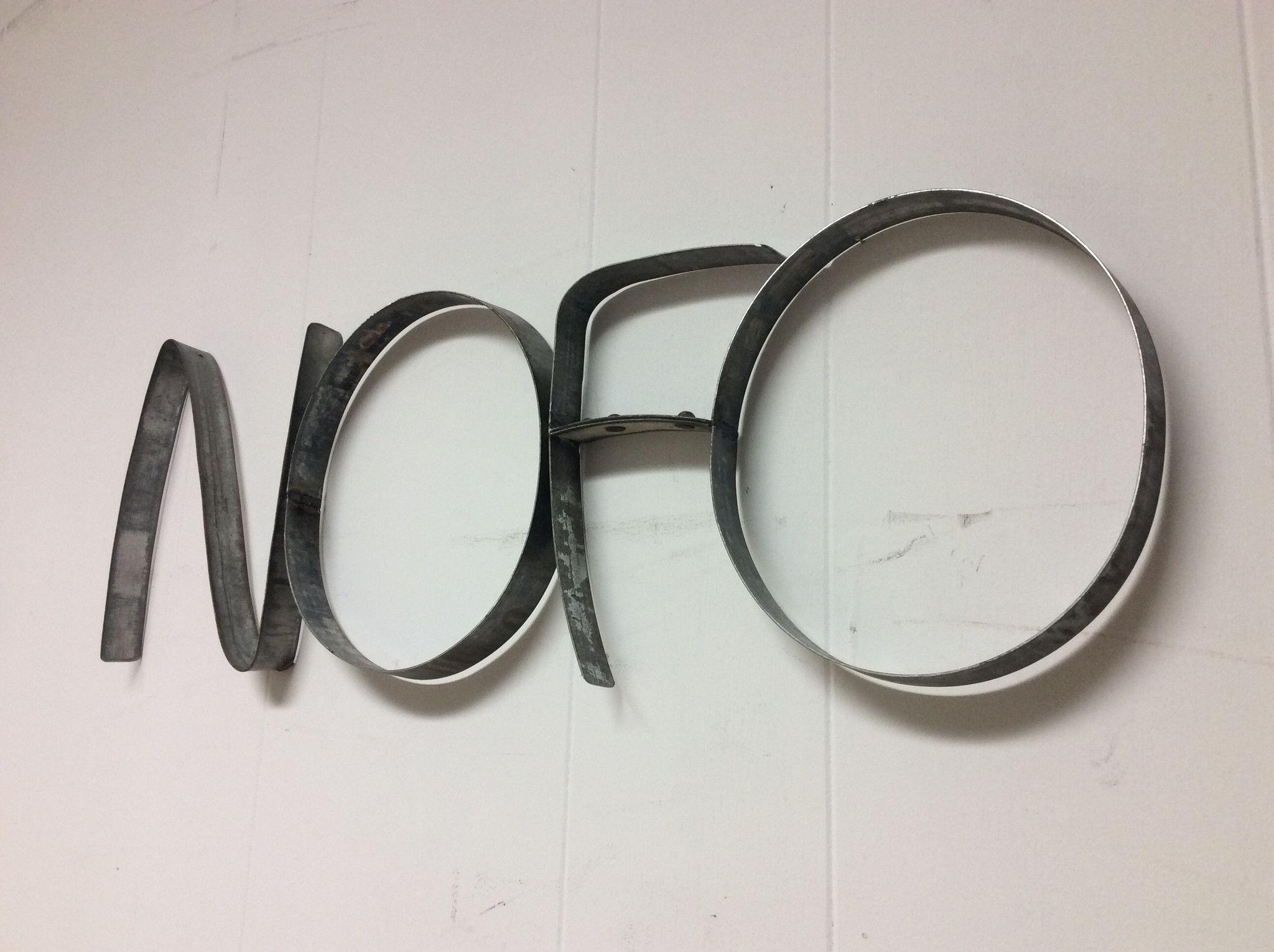 Nofo barrel ring wall art inspired by long islandus north fork