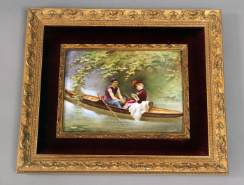 A Stunning Late 19th Century Sèvres Style Porcelain Rectangular Plaque  Signed A. Collot