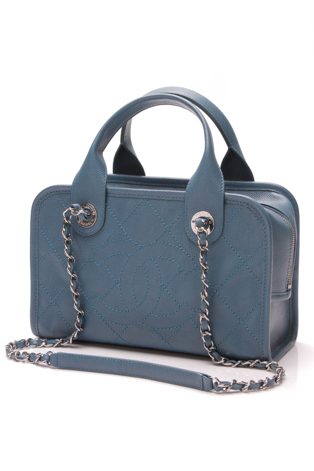 8328b566de5ec8 Small Deauville Bowling Bag - Blue Caviar Leather in 2019 | Crazy ...