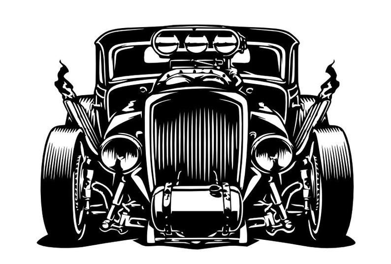 Hot Rod Rat Rod Dxf Svg Vector File Only Etsy In 2021 Cartoon Car Drawing Hot Rod Tattoo Hot Rods Cars