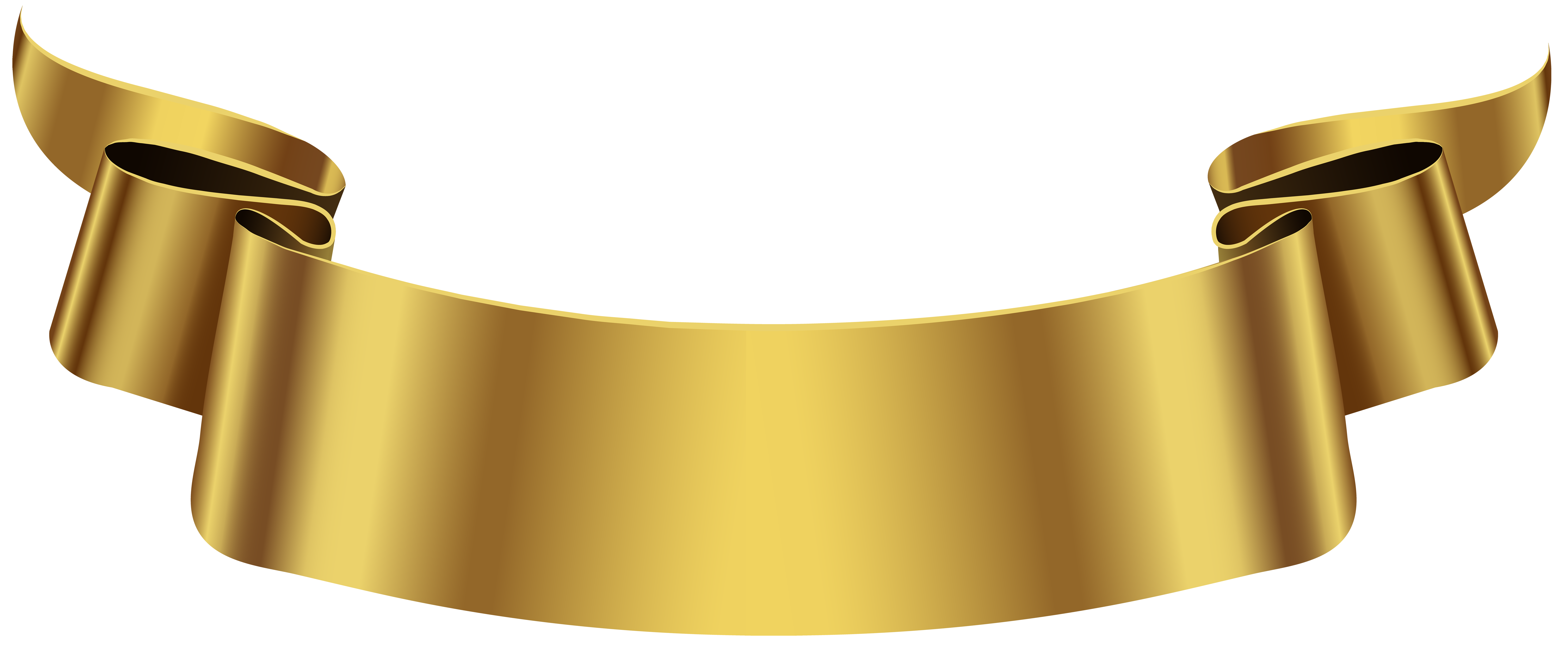Golden Banner Transparent Png Clip Art Image Gallery Yopriceville High Quality Images And Transparent Png Free Cli Banner Clip Art Logo Gallery Ribbon Png