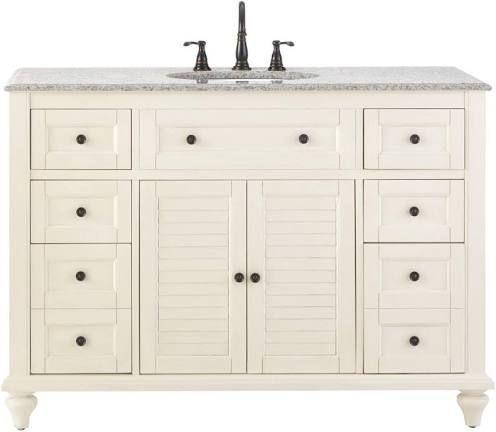 48 inch vanity   Granite vanity tops, Home depot bathroom ...