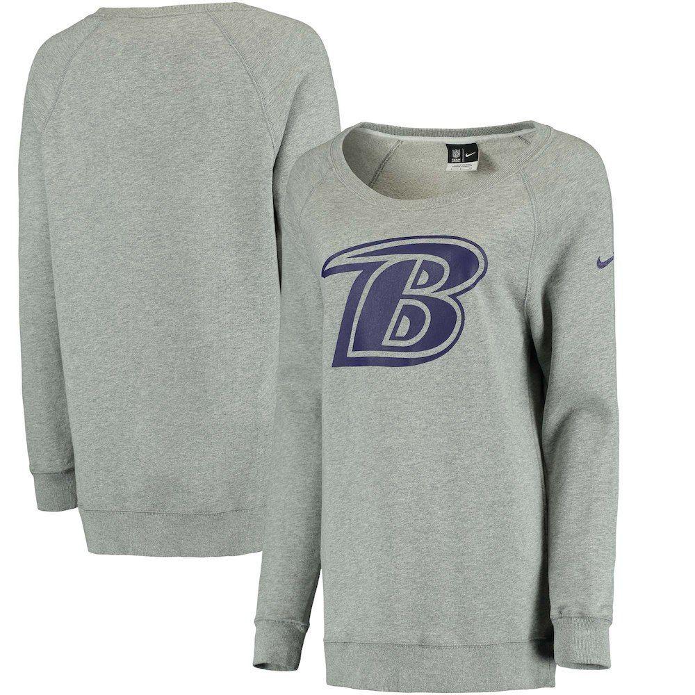 Predownload: Women S Nike Heathered Gray Baltimore Ravens Champ Drive Boyfriend Pullover Sweatshirt Sweatshirts Nike Women Pullover Sweatshirt [ 1000 x 1000 Pixel ]