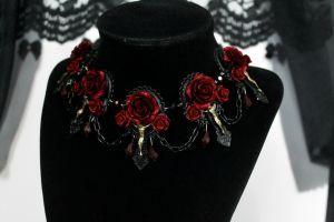 Vampire's Requiem Necklace - Red by Necrosarium