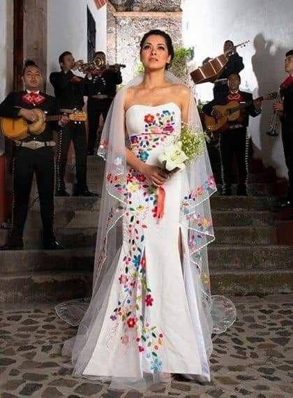 Hispanic mexican wedding dress
