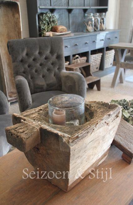Grey velvet armchair.