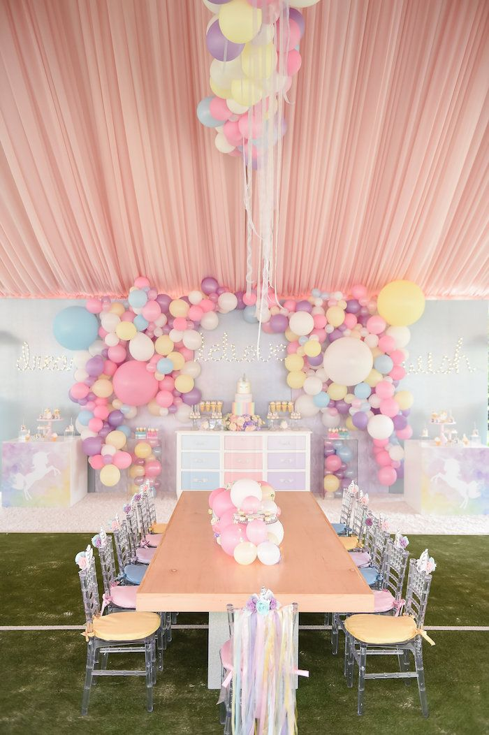 Dream believe wish pastel unicorn birthday party for Wish decoration