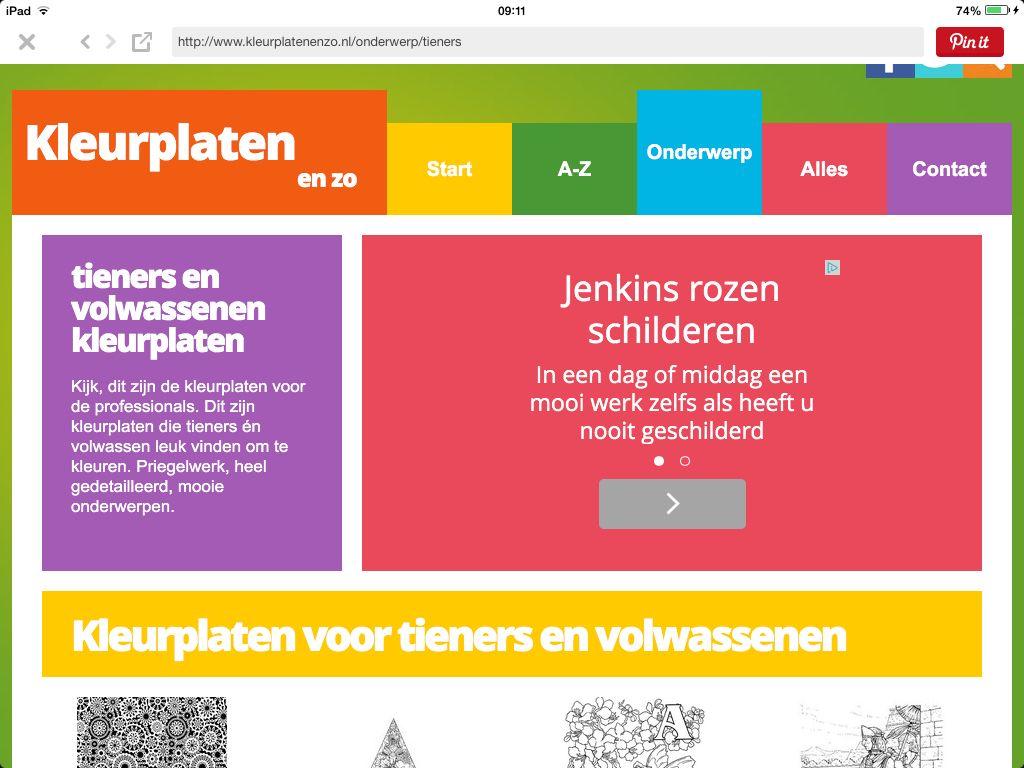 Kleurplaten Voor Tieners En Volwassenen Tekenen Schilderen Kleuren