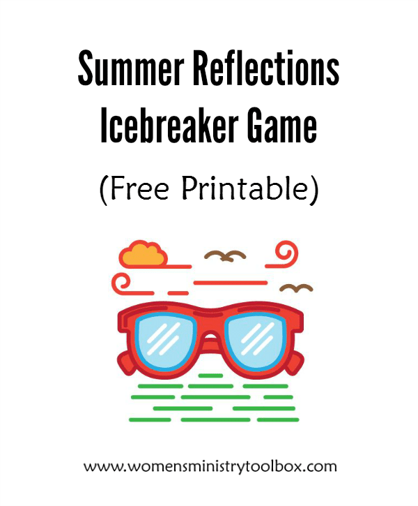 07d49908ff32 Need an icebreaker for your fall women s ministry or Bible study kick-off.  Get your women talking about what they did this summer!
