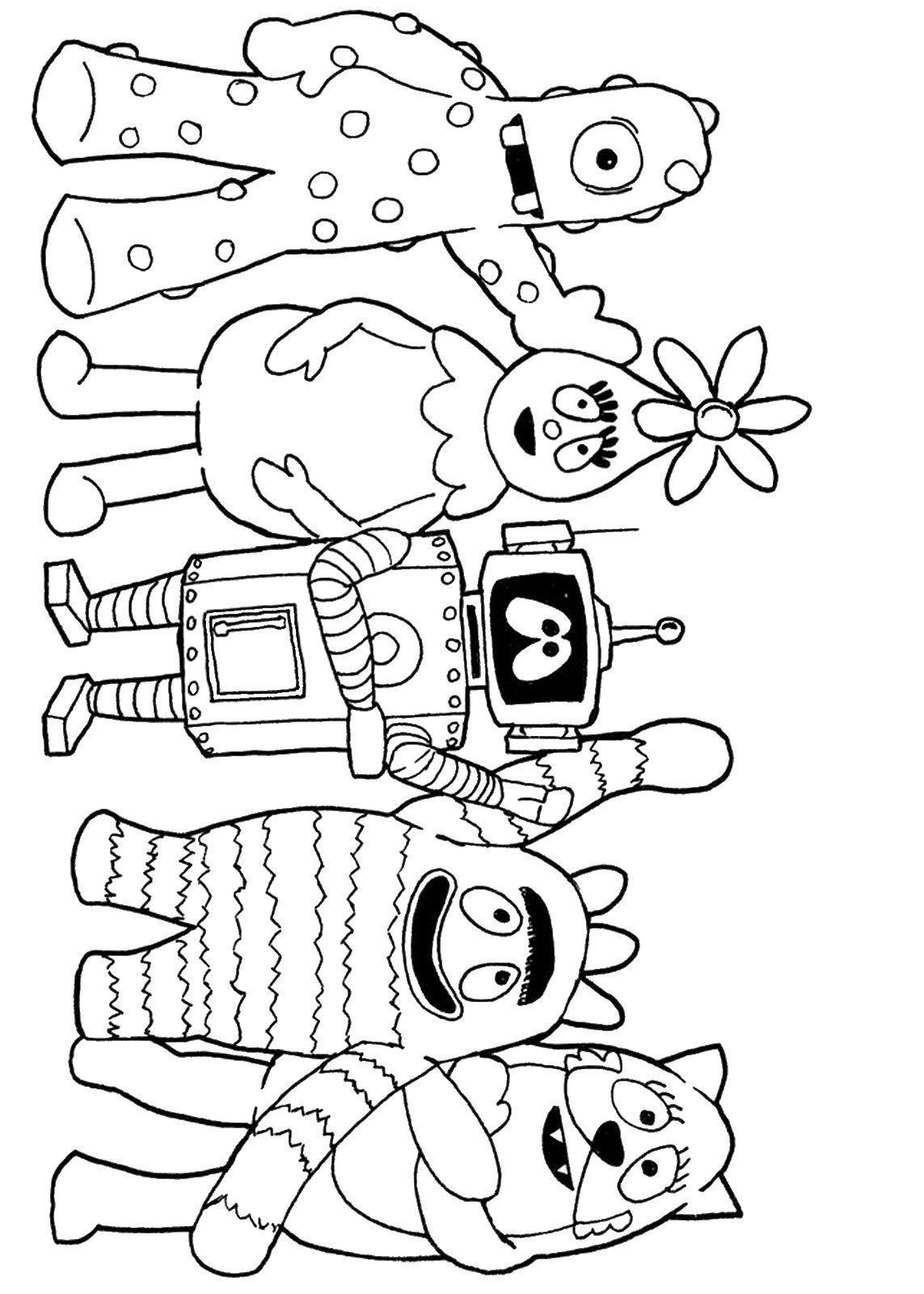 Yo Gabba Gabba Printable Coloring Pages Free Online Coloring Online Coloring Pages Nick Jr Coloring Pages [ 1600 x 1143 Pixel ]