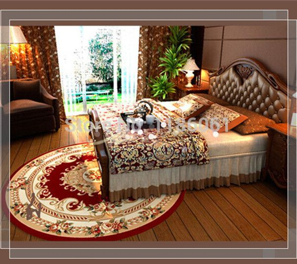 Hot Sale Shaggy Round Carpet For Livingroom and Area Red Rug of