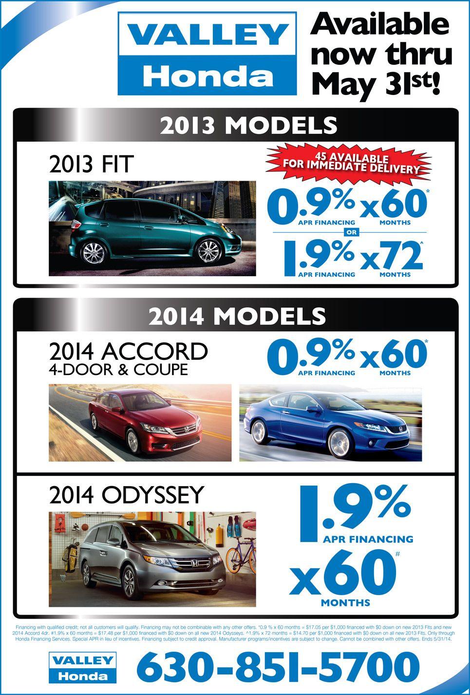 Honda Finance Specials >> Valley Honda May Finance Specials Valley Honda Specials