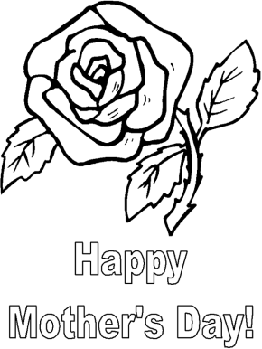 Mom Happy Mother S Day Coloring Page Mother S Day Flower