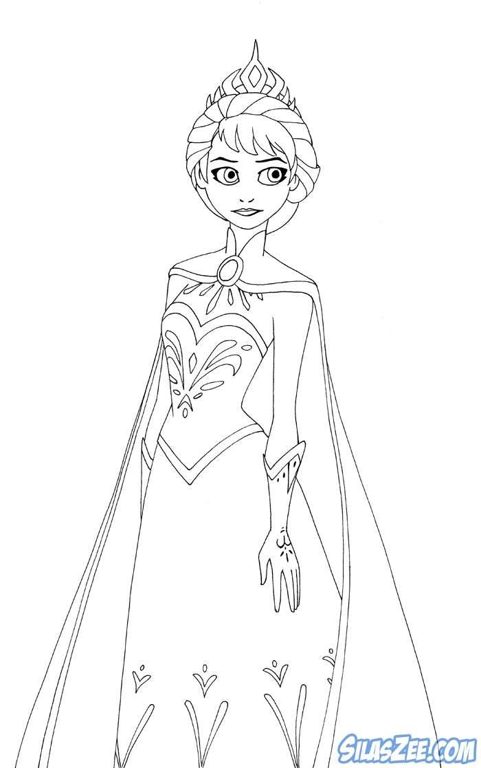 Free Printable Coloring Pages And Clip Art Of Princess Elsa From Frozen