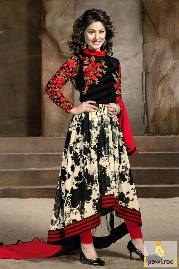Tv serial actress heroine Hina Khan Akshara special black red ...