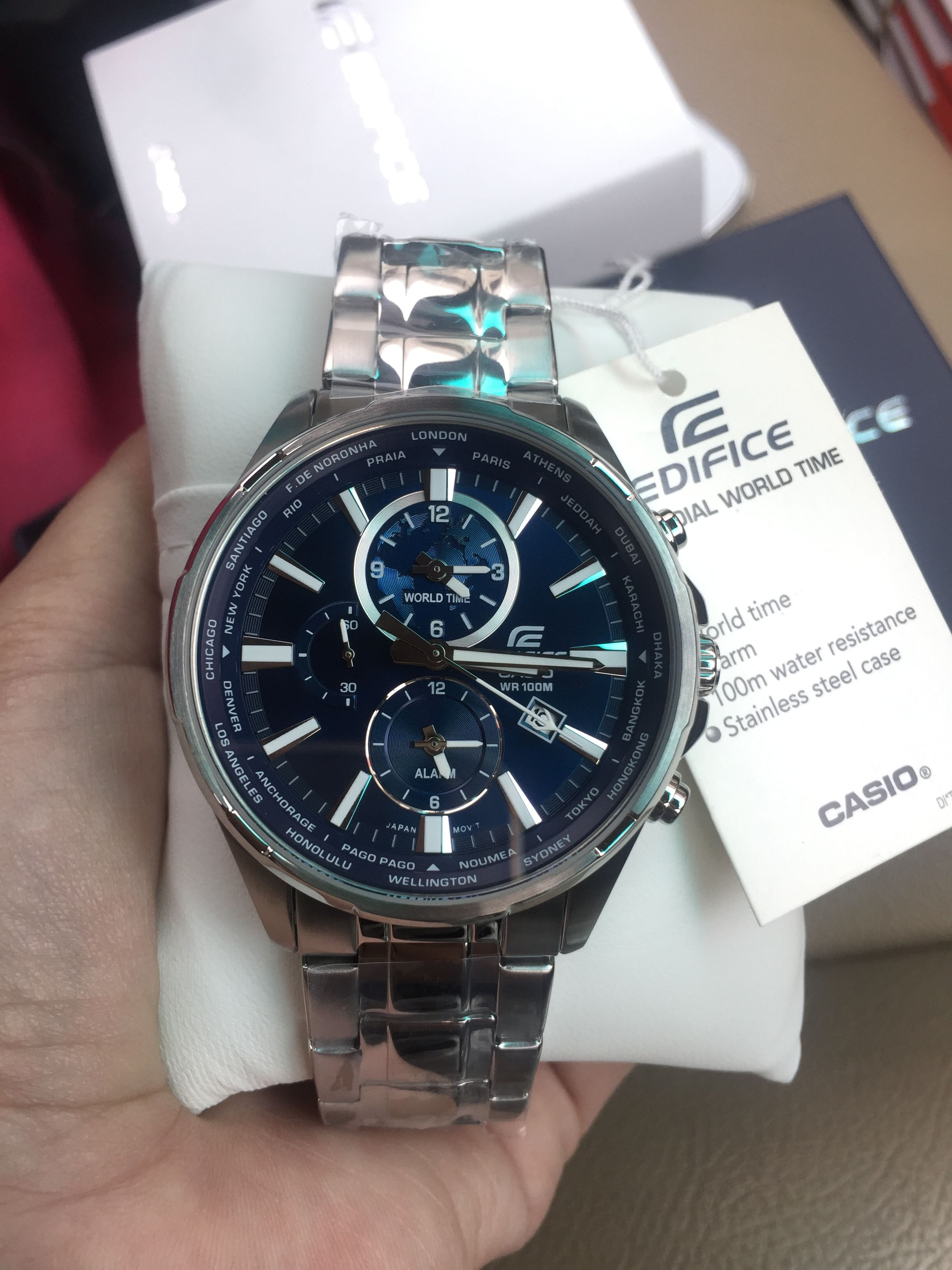 1d79f486fb16 นาฬิกาข้อมือ CASIO EDIFICE MULTI-HAND รุ่น EFR-304D-2AV นาฬิกาข้อมือ ...