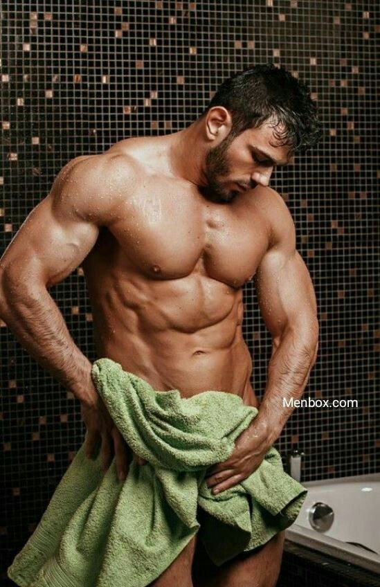 Gay Muscle Shower