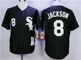 e3eefa0ad87 Chicago White Sox  8 Bo Jackson Throwback Black Jersey