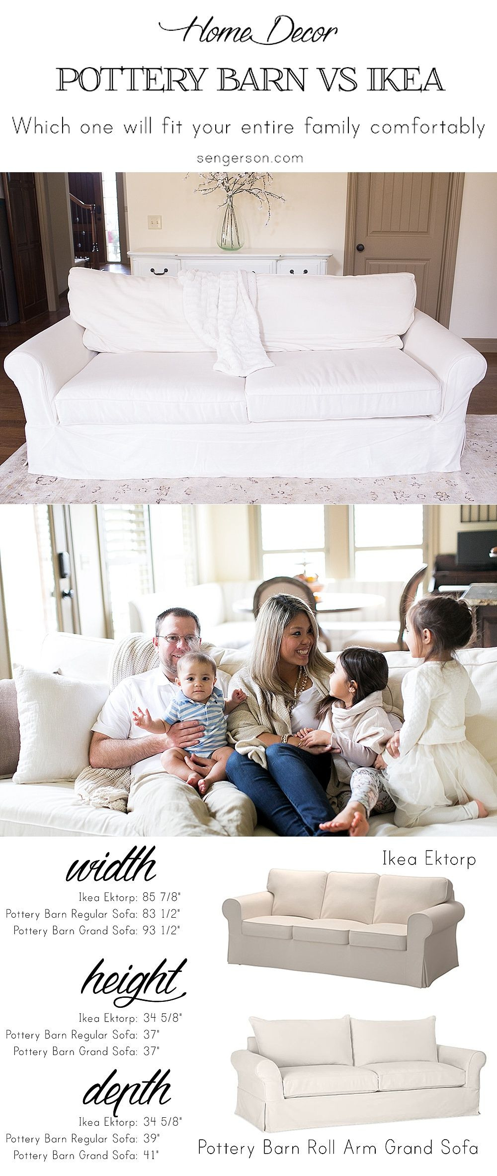 Tips On Buying A Sofa   The Recommend Couch Is The Pottery Barn Rollarm  Grand Sofa And Things To Think About   Especially A Mom With Three Kids!