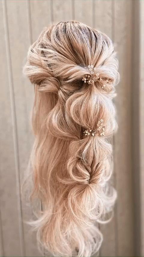 Really Pretty Bridal Hairdo 2021