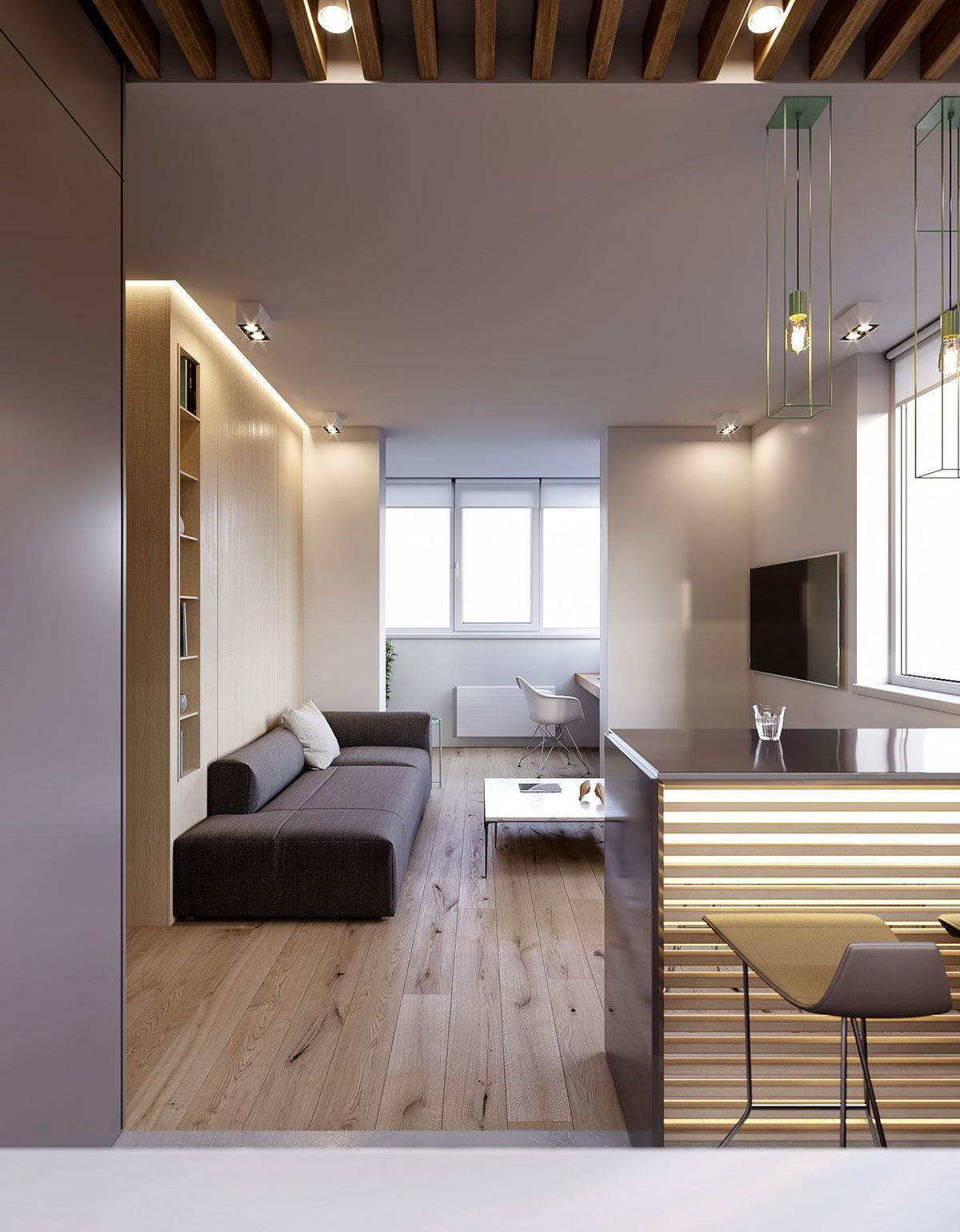 3 Modern Minimalist Apartments For Young Families Minimalist Apartment Decor Minimalist Living Room Apartment Minimalist Home Decor