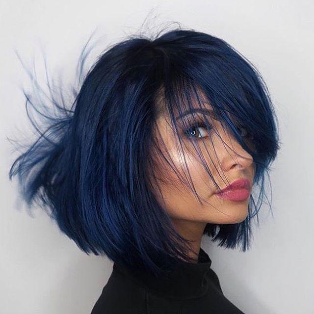Hair Colour Lorealprouk Luocolor Darkblueblend Bluebleed