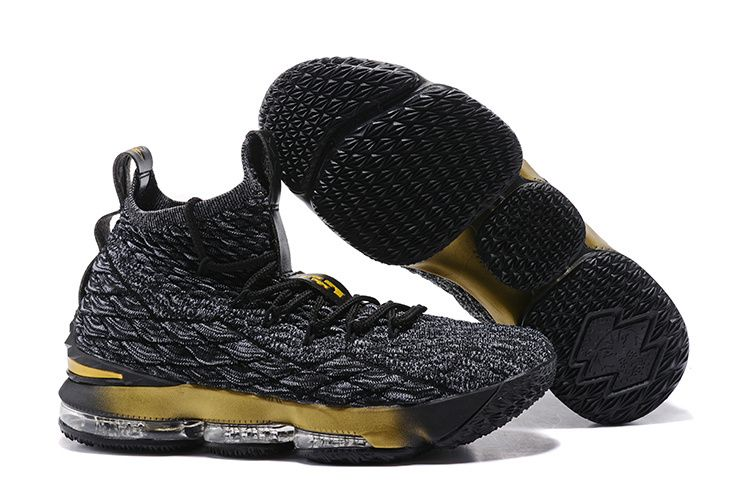 4a4f5e49e440 Retail Nike LeBron 15 Pride of Ohio Carbon Black Gold Men s Sneakers  Basketball Shoes