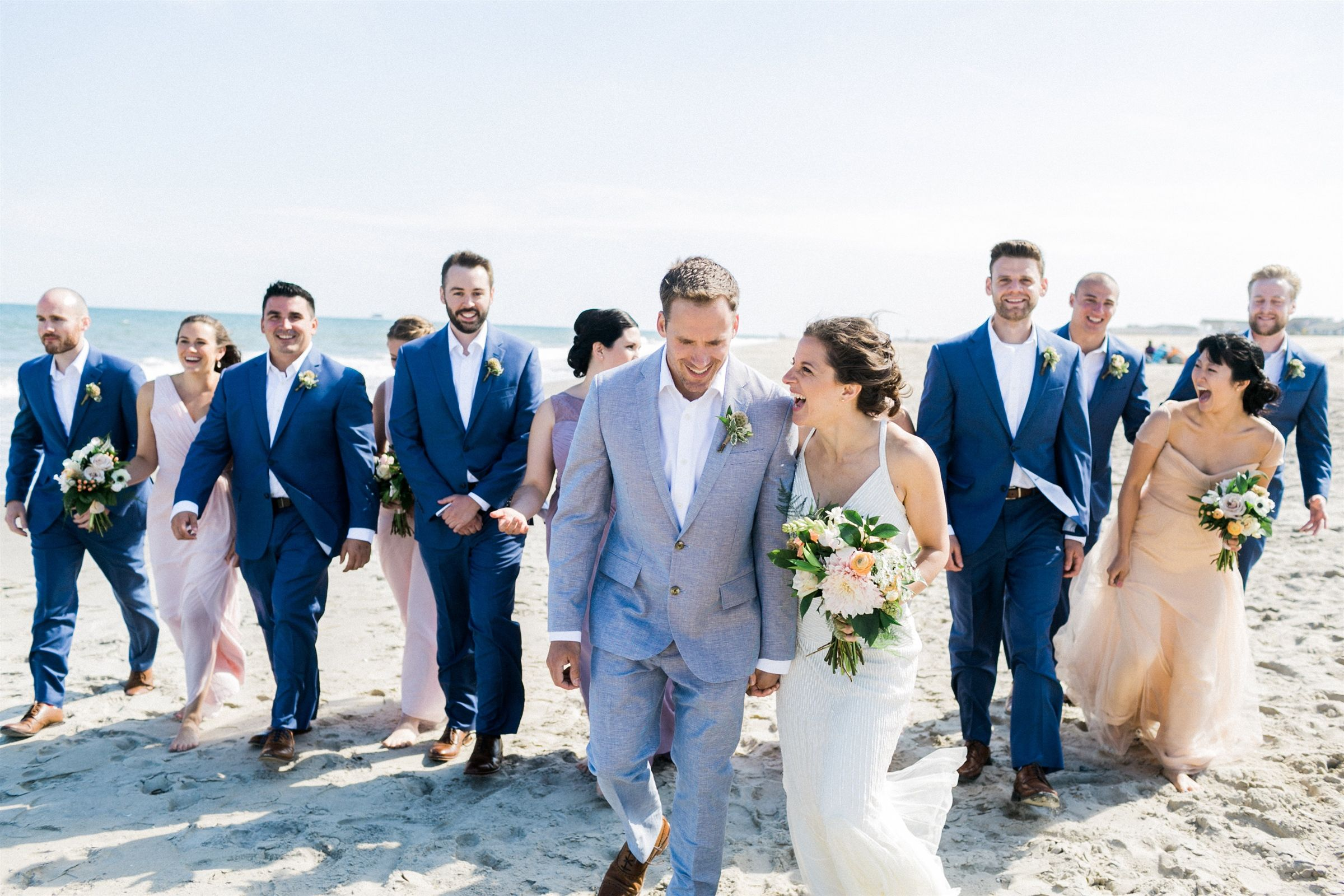 Love This Beach Wedding Day Featuring Blush Pink And Navy Alexis June Weddings June Wedding Wedding Beach Wedding