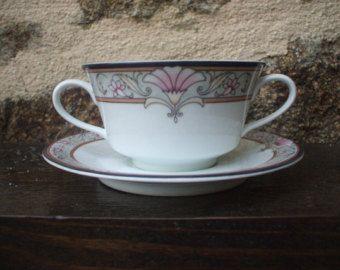 Vintage Schmidt porcelaine  tea Cup and Saucer Set