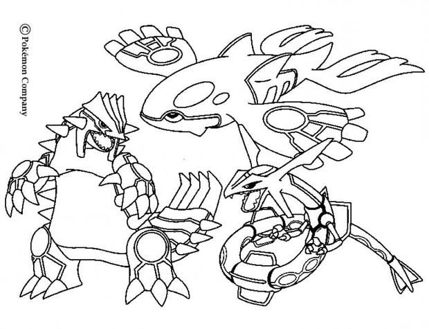 Pokemon Battles Coloring Pages Groudon Raykaza And Kyogre Pokemon Coloring Pages Detailed Coloring Pages Super Coloring Pages