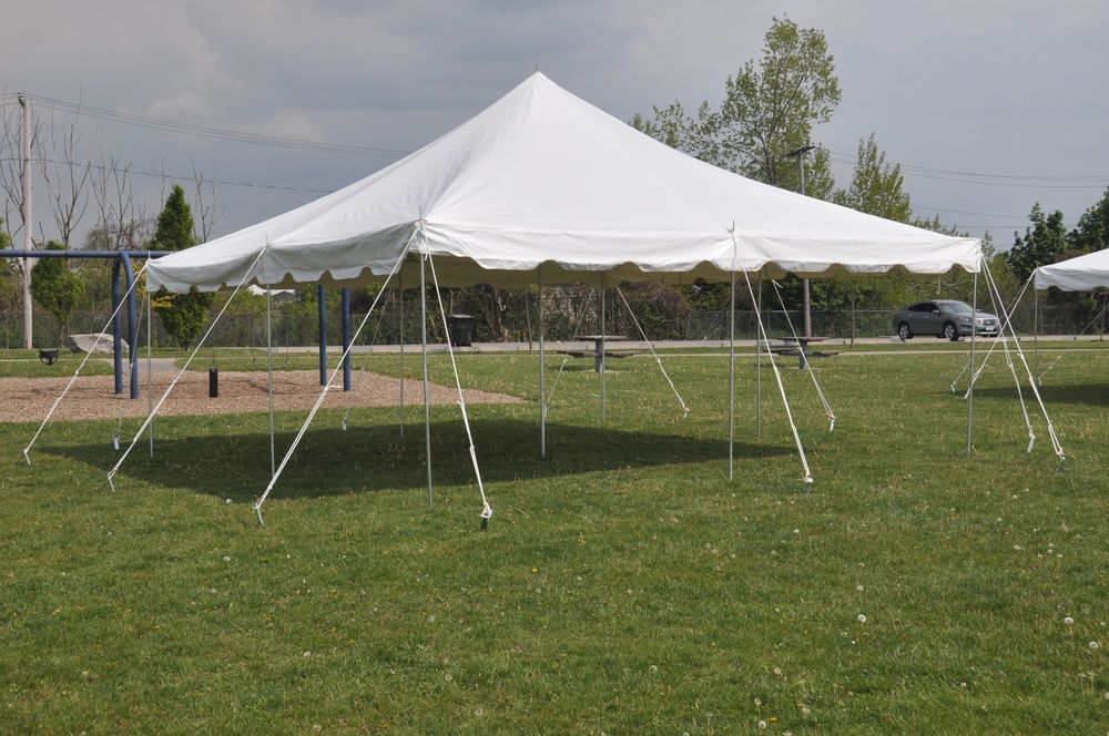 20 X 20 White Pole Tent Economy Party Tents Wedding Event Frame Canopy Awning Tentandtable Canopy Tent Outdoor Party Tent Canopy Poles