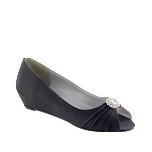 Great Low Heel Shoe For Mother Of The Bride Or Grandma Bridal Shoes Wedges Bridal Wedges Bridesmaid Shoes