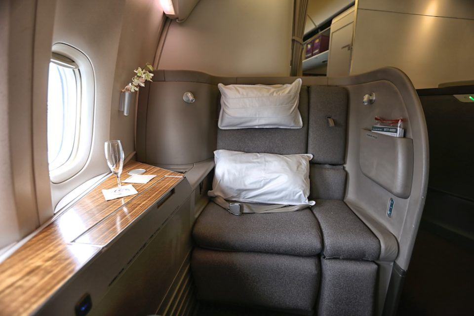 Cathay pacific first class review hkg to bkk uponarriving