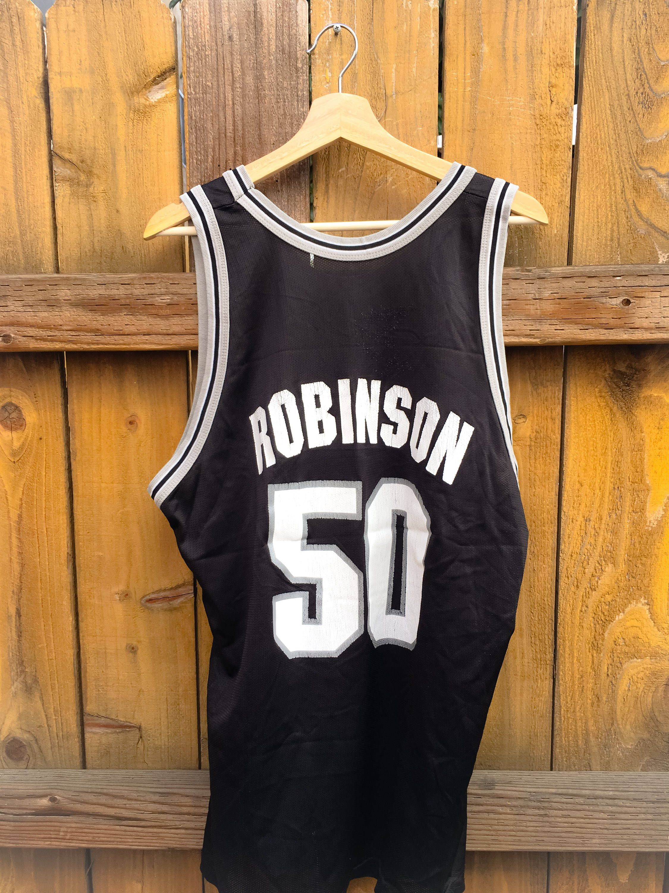 57e5fdbb86294a Excited to share the latest addition to my  etsy shop  Vintage Champion NBA  Jersey San Antonio Spurs David Robinson  clothing  men  black  white  xl   bball ...