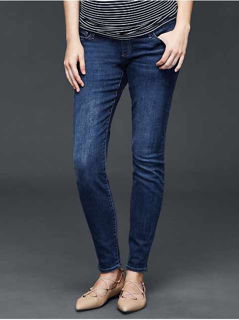 Maternity Jeans: wide leg, straight leg, boot cut, bell & trouser maternity jeans at GapMaternity | Gap
