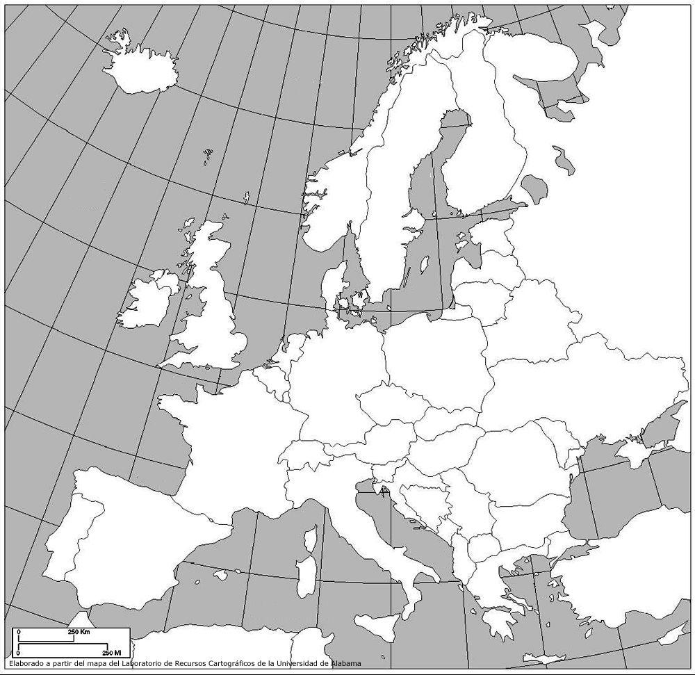 Recursos Infantiles Mapas Mapa De Europa Mapas Relieve España