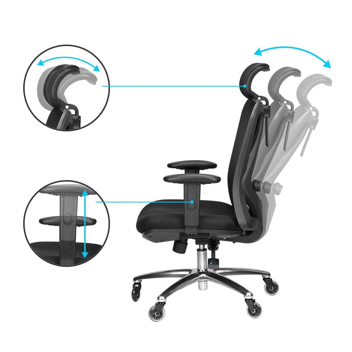Duramont ergonomic adjustable office chair with lumbar