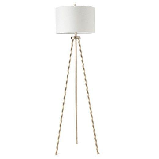 Ellis Tripod Floor Lamp Brass White Project 62 Tripod Floor Lamps Floor Lamp Floor Lamps Living Room