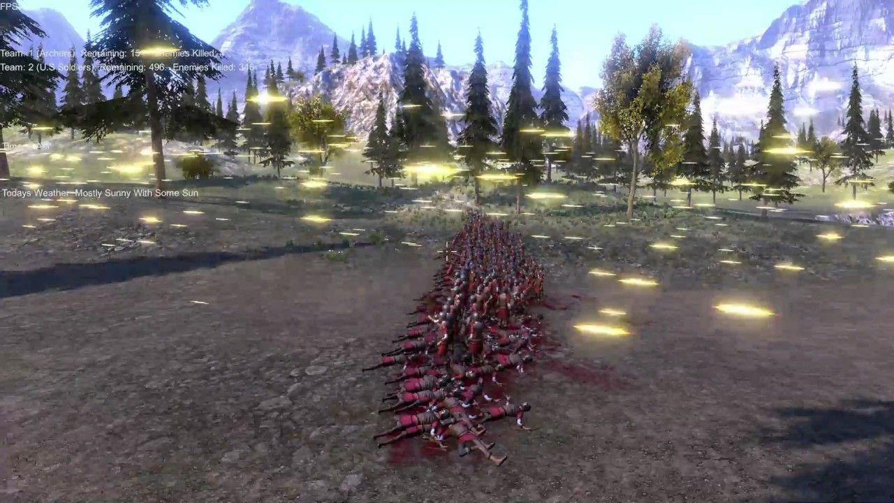 500 archers vs 500 soldiers