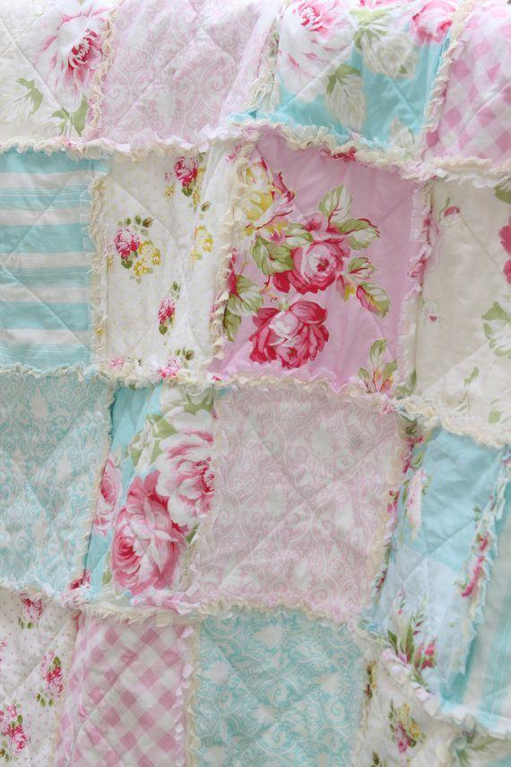 Shabby Chic Baby Bedding crib rag quilt baby crib bedding shabby chic nursery